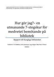 Slutrapport - Kungliga biblioteket