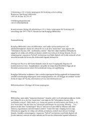 Utformning av EU:s femte ramprogram för forskning och utveckling ...