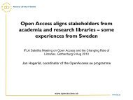 Open Access aligns stakeholders from academia and research ...