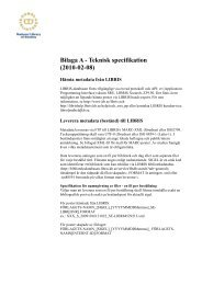 Bilaga A - Teknisk specifikation (2010-02-08)