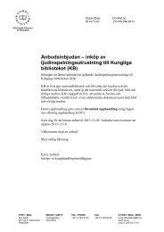 Anbudsinbjudan – inköp av ljudinspelningsutrustning till Kungliga ...