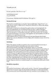 Yttrande över Justitiedepartementets promemoria - Rättsligt skydd för