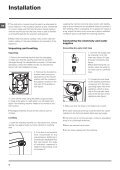 Instructions for use - Hotpoint - Page 2