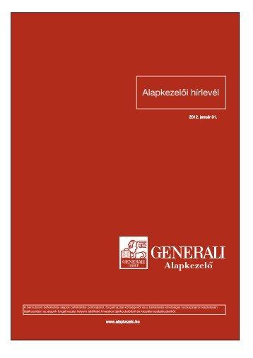 2012 január havi hírlevél Generali Abszolút Hozam ... - KBC Equitas