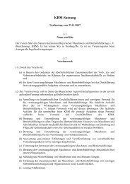KBM-Satzung - Kuratorium Bayerischer Maschinen
