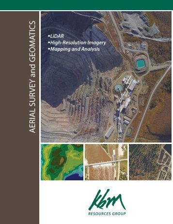 Aerial Survey & Geomatics brochure - KBM Resources Group
