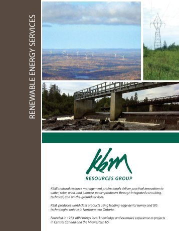Renewable Energy Services brochure - KBM Resources Group