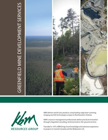 Greenfield Mine Development brochure - KBM Resources Group