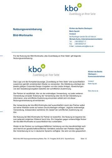 Nutzungsvereinbarung Bild-Wortmarke - Kliniken des Bezirks ...