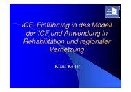 Einführung in das Modell der ICF - Kliniken des Bezirks Oberbayern