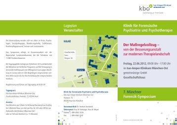 Lageplan Veranstalter Klinik für Forensische Psychiatrie und ...