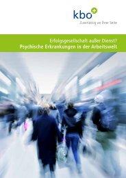 Psychische Erkrankungen in der Arbeitswelt - Kliniken des Bezirks ...