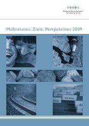 Maßnahmen, Ziele, Perspektiven 2009 - Kliniken des Bezirks ...