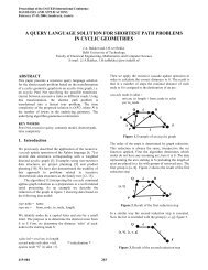 a query language solution for shortest path problems in cyclic ...