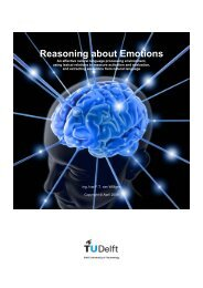 Reasoning about Emotions - Knowledge Based Systems Group