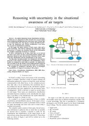 Reasoning with uncertainty in the situational awareness of air targets