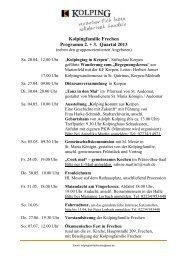 Programm 2. / 3. Quartal 2013 - Kolping-Bildungswerk ...