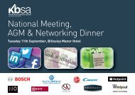 Please click here for a delegate form - KBSA