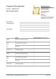 Programm Planungsbogen - Kolping-Bildungswerk ...
