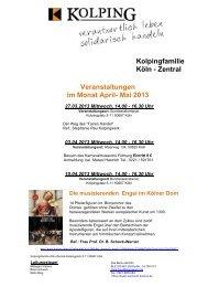 Monatsprogramm Blättchen April / Mai 2013