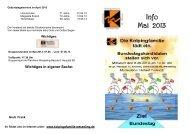 Monatsprogramm Mai 2013