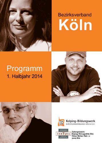 Programm 1. Halbjahr 2014 - Kolping-Bildungswerk ...
