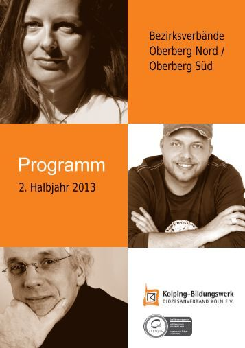 Programm 2. Halbjahr 2013 - Kolping-Bildungswerk ...