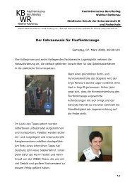 Der Fahrausweis für Flurförderzeuge - Kaufmännisches ...