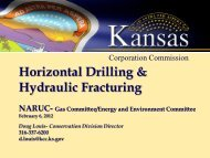 Horizontal Drilling & Hydraulic Fracturing - Kansas Corporation ...