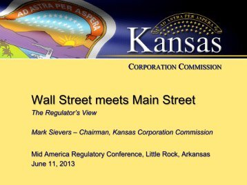 Wall Street meets Main Street - Marc 2013