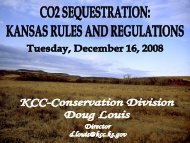 CO 2 Sequestration: Kansas Rules and Regulations