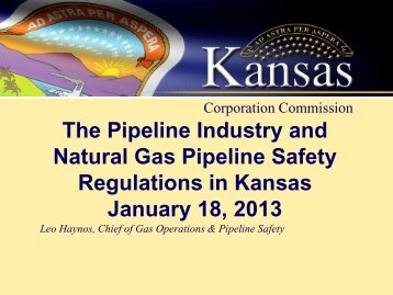 Presentation by Leo Haynos, Chief of Gas Operations and Pipeline ...