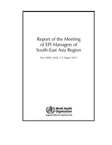 Report of the Meeting of EPI Managers of South-East Asia Region