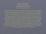 Line #1 Dig Site #9 Near Miss Incident 09:00 September 3, 2005 ...