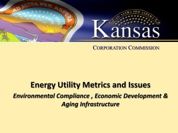 Energy Utility Metrics and Issues - Kansas Corporation Commission