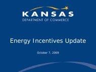 Kansas Energy Incentives and Tax Credits