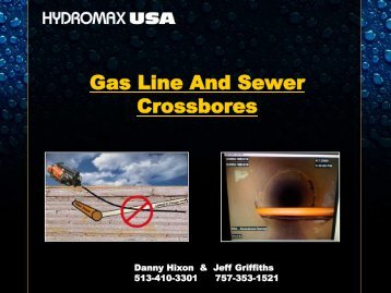Gas Line And Sewer Crossbores