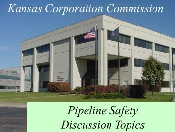 KCC Discussion Topics - Leo Haynos, KCC - Kansas Corporation ...
