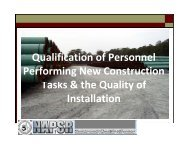 Qualification of Personnel Performing New Construction Tasks & the ...