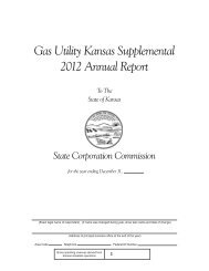 Gas Utility Kansas Supplemental Annual Report Form (pdf format)