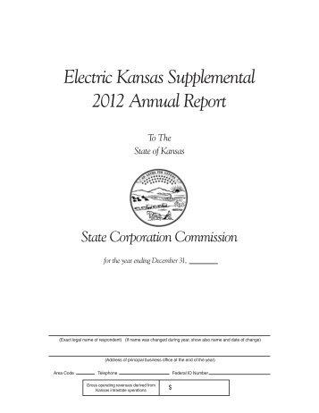 Electric Utility Kansas Supplemental Report - Kansas Corporation ...