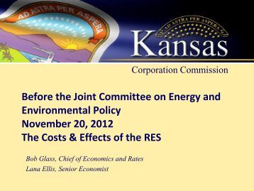 Your Presentation Title here - Kansas Corporation Commission