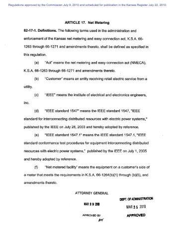 Net Metering - Kansas Corporation Commission