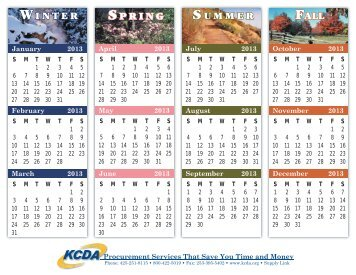 Print a copy of the 2013-2014 Calendar - KCDA