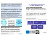 Your Kimberly-Clark guide to the new European Standard EN 13795