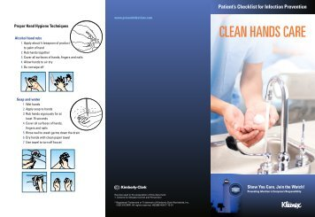 CLEAN HANDS CARE - Kimberly-Clark Health Care