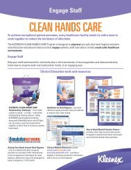 Clean Hands Care Program Overview - Kimberly-Clark Health Care