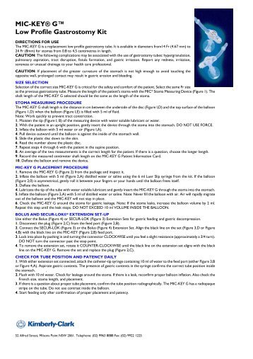 MIC-KEY® G™ Low Profile Gastrostomy Kit