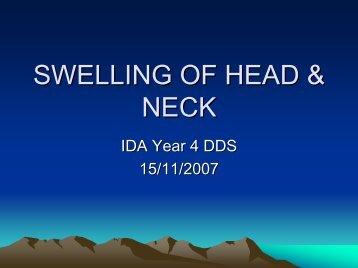 SWELLINGS OF HEAD & NECK