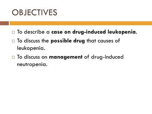 DRUG-INDUCED LEUKOPENIA